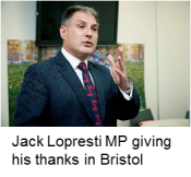Jack Lopresti MP at our Bristol event