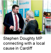Stephen Doughty MP at our Cardiff event
