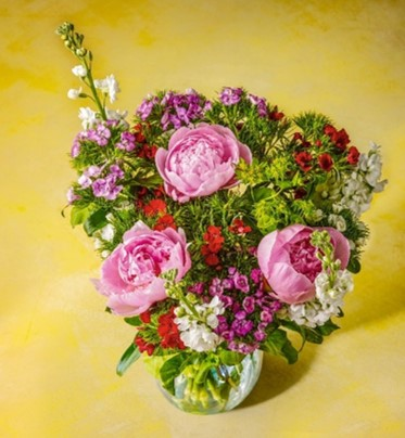 Picture of our Best of British Seasonal Bouquet of flowers
