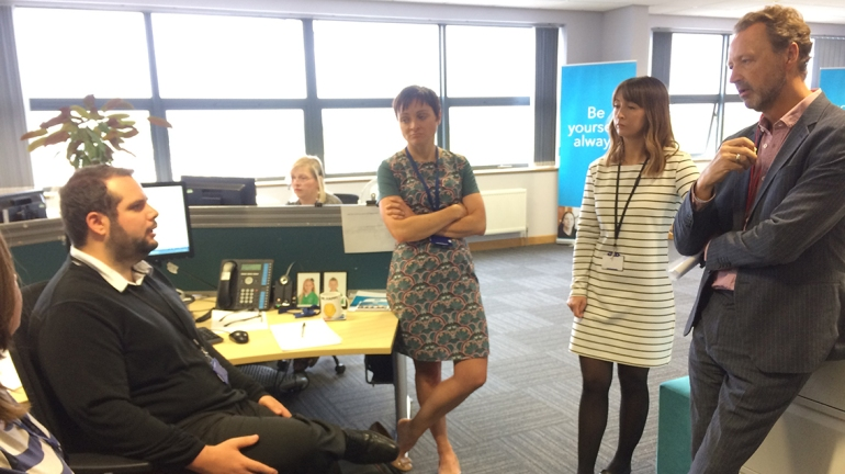 Joanna, Liz, Steve and some of the Employee Relations team