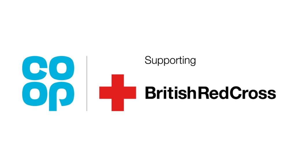 British Red Cross and Co-op logos
