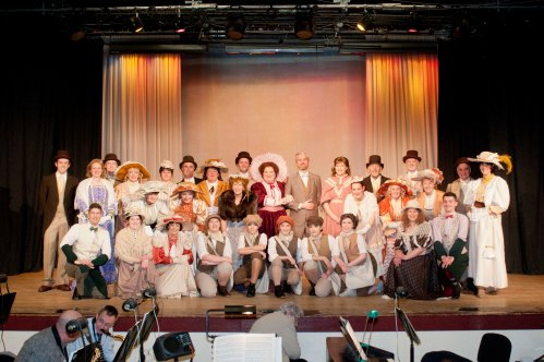 Performers on the stage at Cupar Musical Society