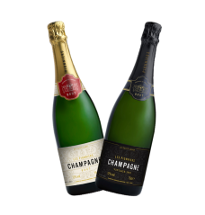 Co-op champagne bottles