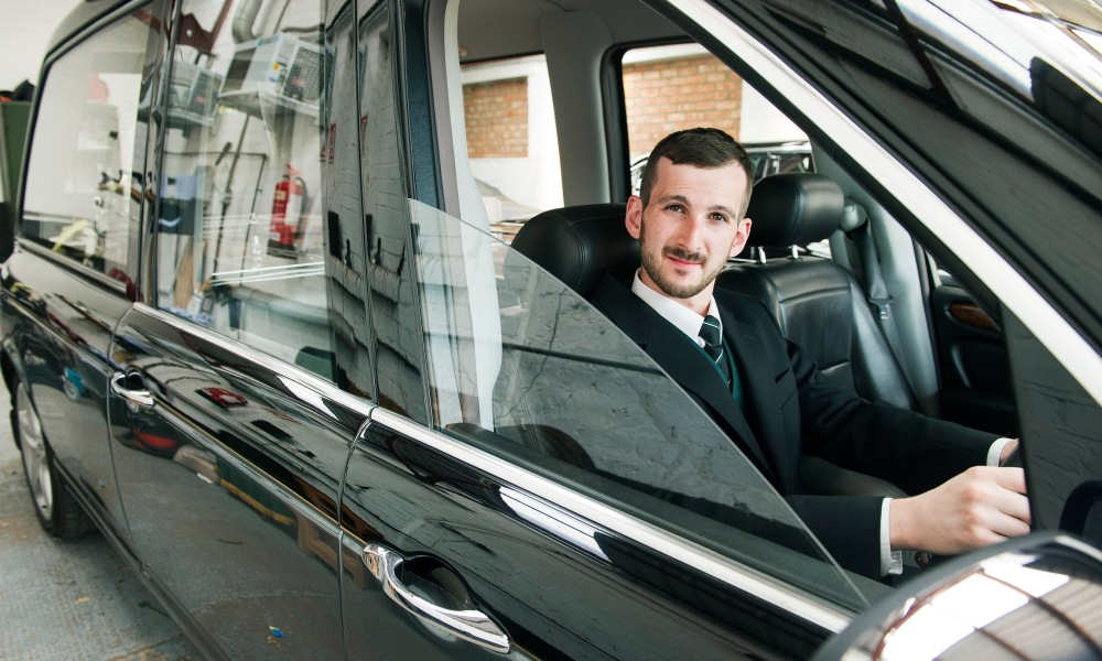 Funeralcar's 2,000th apprentice Ryan Coombes