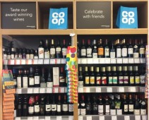 Picture of Co-op wine on the shelf