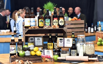 Yorkshire local suppliers' products on display at Great Yorkshire