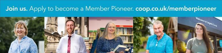Member Pioneer banner with images of Member Pioneers