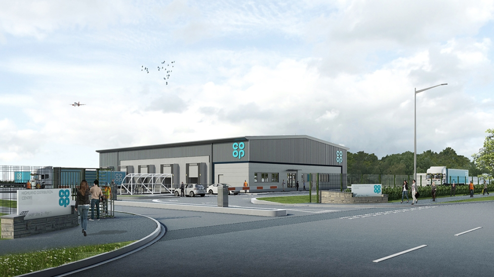 Artist's impression of how the new Inverness depot will look