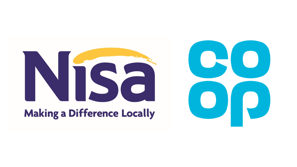 Nisa and Co-op logos side by side