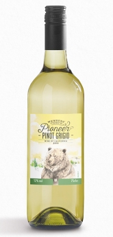 Bottle of our Pioneer Pinot Grigio