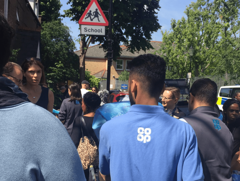 Notting Hill store colleagues helping the victims of Grenfell