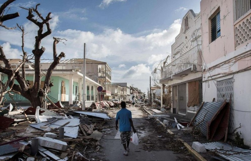 An image of the devastation after Saint Maarten hurricane