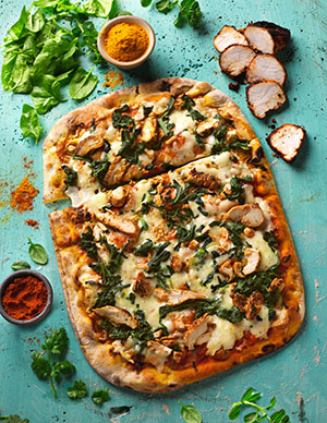 Co-op Irresistible Keralan chicken pizza