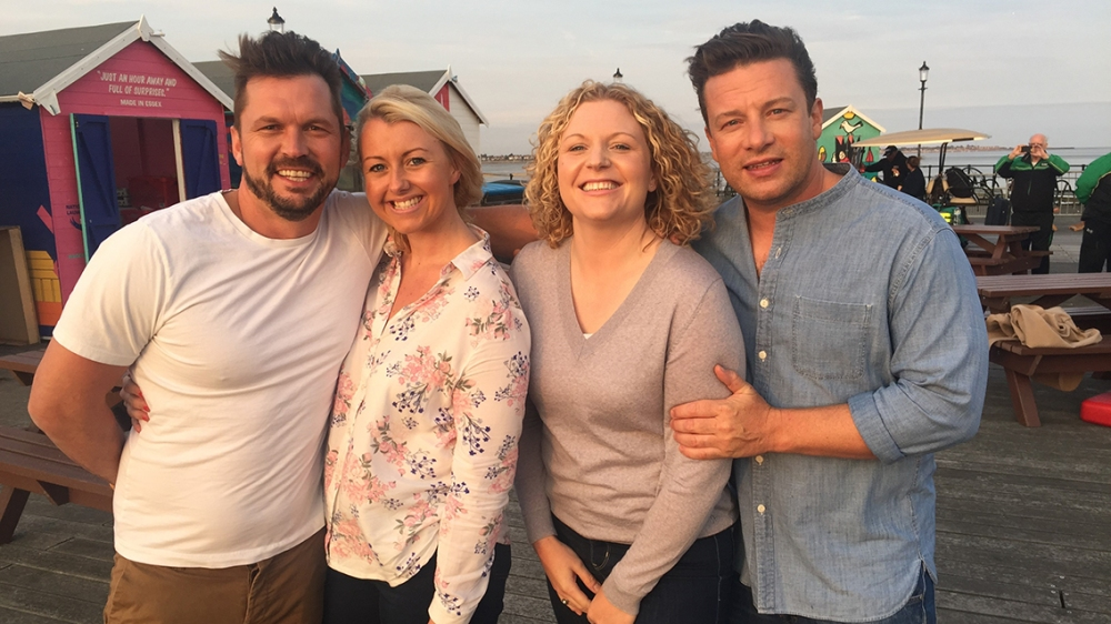 Jamie and jimmy with Kirsty Rushby and Liz Cassells