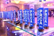 PRCA award trophies lined up