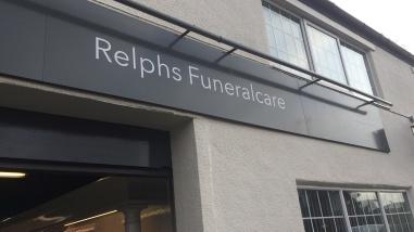 Steve Murrells visiting Relphs Funeralcare in Bolton