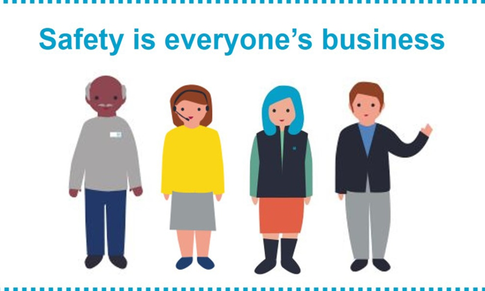 Graphic saying: safety is everyone's business