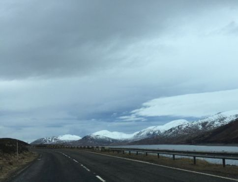The road from Inverness to Ullapool for ferry to StornowayLR
