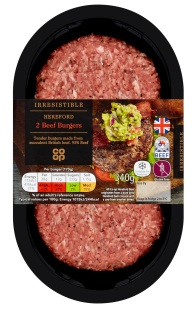 Co-op Irresistible Hereford Burgers