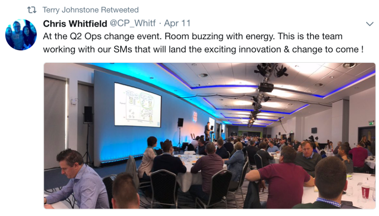 Tweet from Chris Whitfield