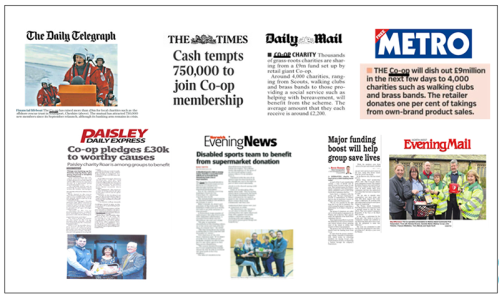 Screenshots of newspaper headlines