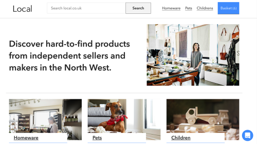 Screenshot of the local.co.uk homepage