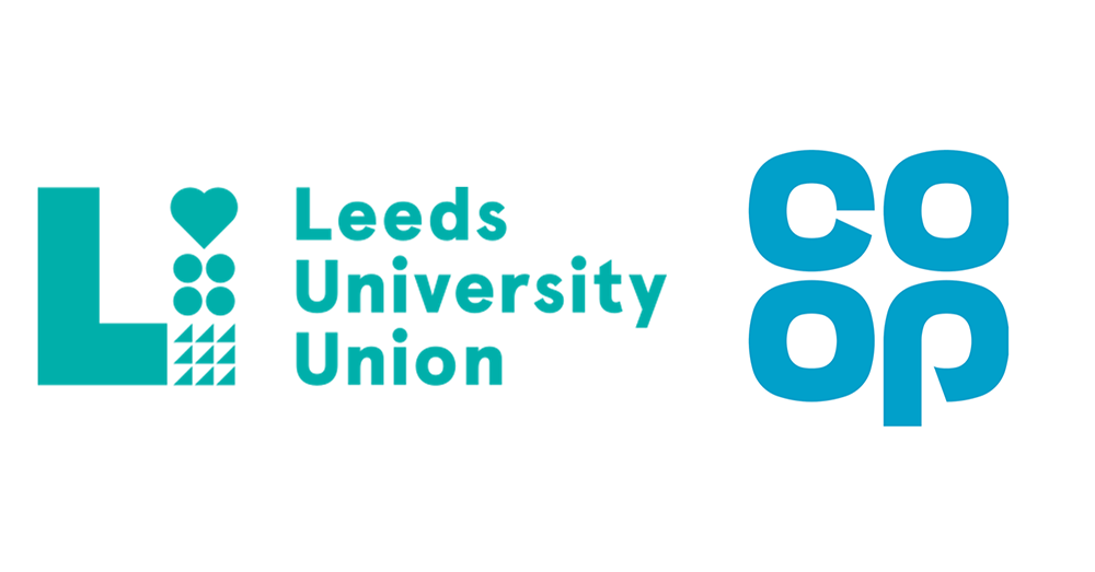 Leeds University Union and Co-op logos