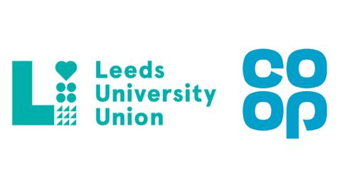 Leeds University Union and Co-op logos